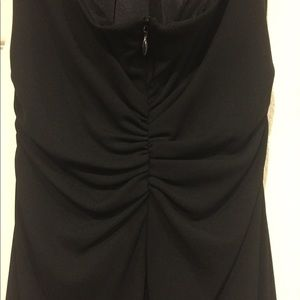 Asymmetrical halter cocktail dress
